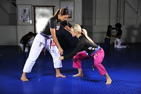 The is Kyra Gracie. The daughter of the original founder of Brazilian Jiu-Jitsu